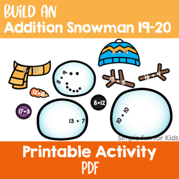 Build an Addition Snowman 19-20 Freebie