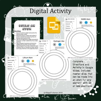 Build an Atom Hands on AND Digital Activity