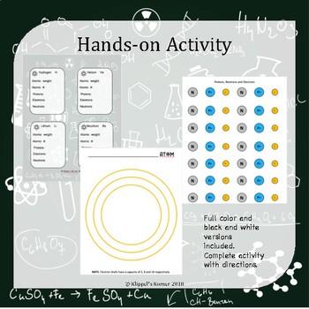Build an Atom Hands on AND Digital Activity BUNDLE