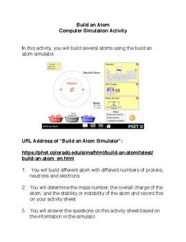 Build an Atom Simulator Activity