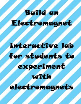 Build an Electromagnet - Editable