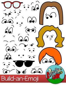 Build-an-Emoji Faces Clip art
