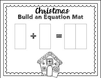 Build an Equation Math Station - Christmas Theme