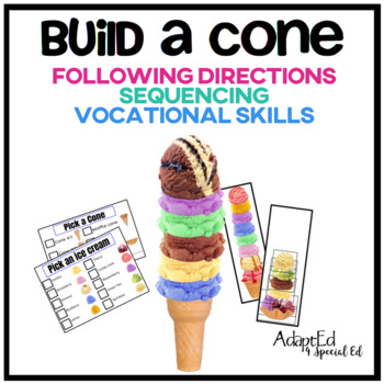 Build an Ice Cream Cone Following Directions