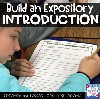 Build an Introduction: Expository