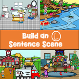 Build an L and L-blend Articulation Sentence Scene No Print