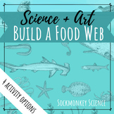 "Build a Food Web: Marine Habitat ""Create Your Own Ocean Fo"