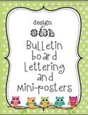 Design-an-Owl Bulletin Board Set