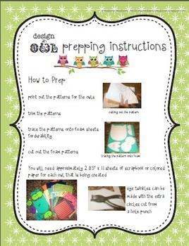 Design-an-Owl Classroom Craft Kit - Nurturing Originality and Uniqueness