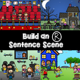 Build an R and R-blend Sentence Scene NO Print