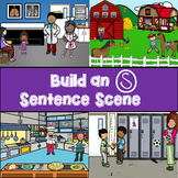 Build an S, Z and S-blend Sentence Scene No Print for Speech Language Therapy
