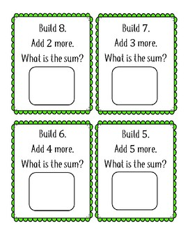 Build and Add Math Fluency Game (GabrielledelMar)