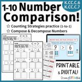 Decompose Numbers & Compare 1-10: 'Greater than, Less than, Equal To'