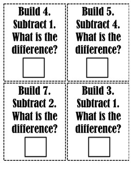 Build and Subtract Cards