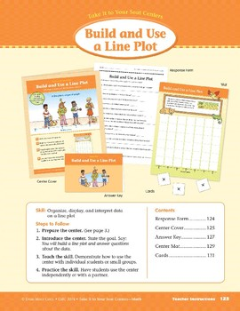 Build and Use a Line Plot (Take It to Your Seat Centers Common Core Math)