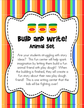 Build and Write: Animal Set {writing center}