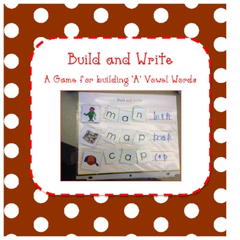 """Build and Write - CVC word building with the """"a"""" vowel"""