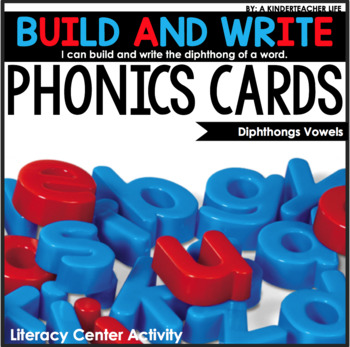 Diphthongs Cards Build and Write