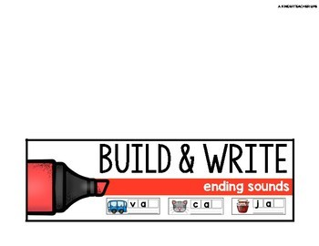 Build and Write Ending Sounds