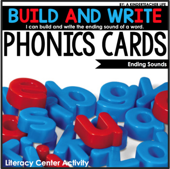 Ending Sounds Build and Write Cards
