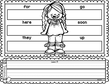 Build and Write Sight Words {Compatible With Kindergarten Journeys}