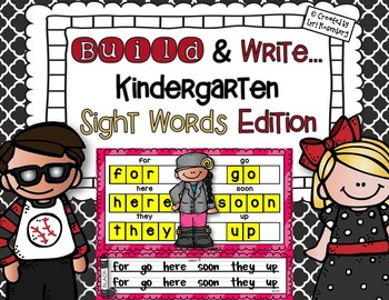 Build and Write Sight Words {Compatible With Kindergarten