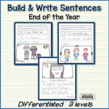 End of Year Writing Build and Write Sentences