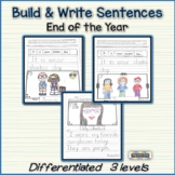 Read, Build, Write Sentences - End of Year