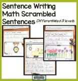 Read, Build, Write Sentences - Math Beginning of the Year Activities