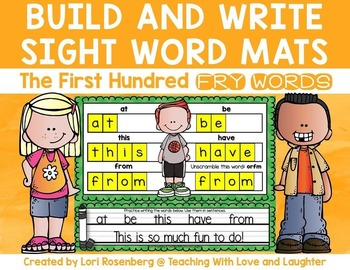 Build and Write Sight Word Mats {First Hundred Fry Words Edition}