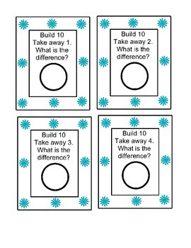 Build it Subtraction Center numbers 10-20