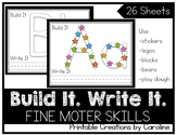 Build it. Write it. Alphabet Letter Recognition. Center. Stickers.