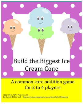 Addition Game: Build the Biggest Ice Cream Cone