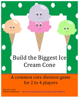 Division Game: Build the Biggest Ice Cream Cone