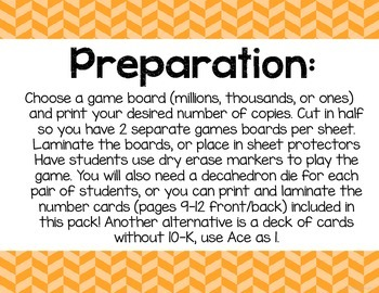 Build the Biggest! (a place value game)