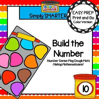 Build the Number:  LOW PREP Number Sense Play Dough Mats (1-10)
