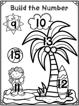 Build the Number - Summer for Pre-K, Preschool, and Kindergarten