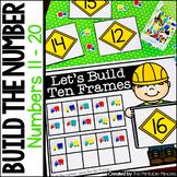 Build the Number Using Mini Erasers {Kindergarten Math: Numbers 11 - 20}