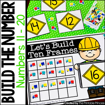 Build the Number Using Mini Erasers {Kindergarten Math: Numbers 11 - 20}