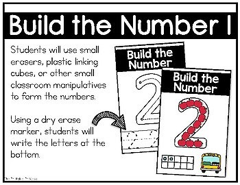 Build the Number Using Mini Erasers {Kindergarten Math: Numbers to 10}