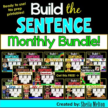 Build the Sentence Months BUNDLE PACK (Save $ on all 12 months!)