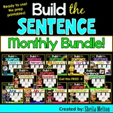Build the Sentence Months BUNDLE! All 12 months plus a FREEBIE!