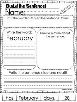 Build the Sentence NO PREP FREEBIE!