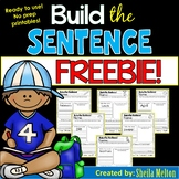 Build the Sentence FREEBIE!