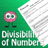 Build the Skill - Divisibility of Numbers