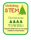 Build the Tallest Christmas Tree Tower Holiday STEM Challenge