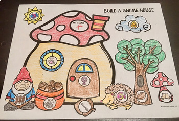 Build with Sounds Gnome House! Speech Therapy Craft Activity