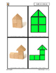 Build with blocks - 4 cubes 2 triangle - 3D