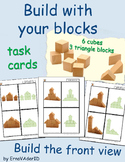 Build with blocks - 6 cubes 3 triangle
