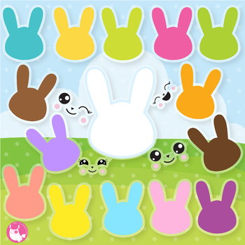 Build your bunny clipart commercial use, vector graphics  - CL1071